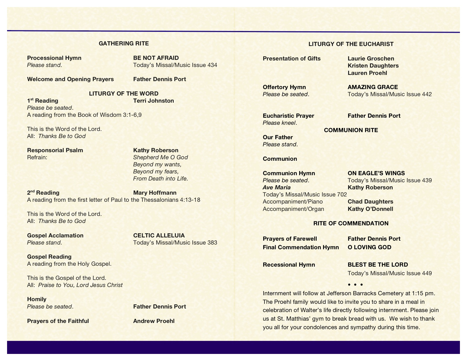 001 Catholic Funeral Program Template Ideas ~ Ulyssesroom - Free Printable Catholic Mass Book