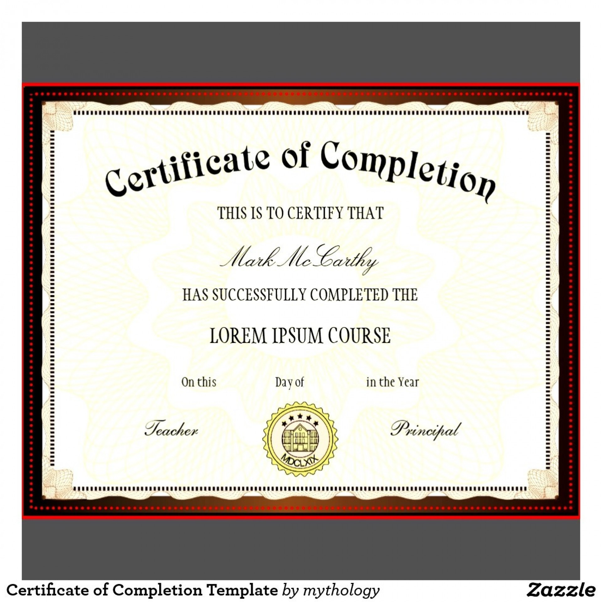 001 Certificate Of Completion Template Free ~ Ulyssesroom - Certificate Of Completion Template Free Printable