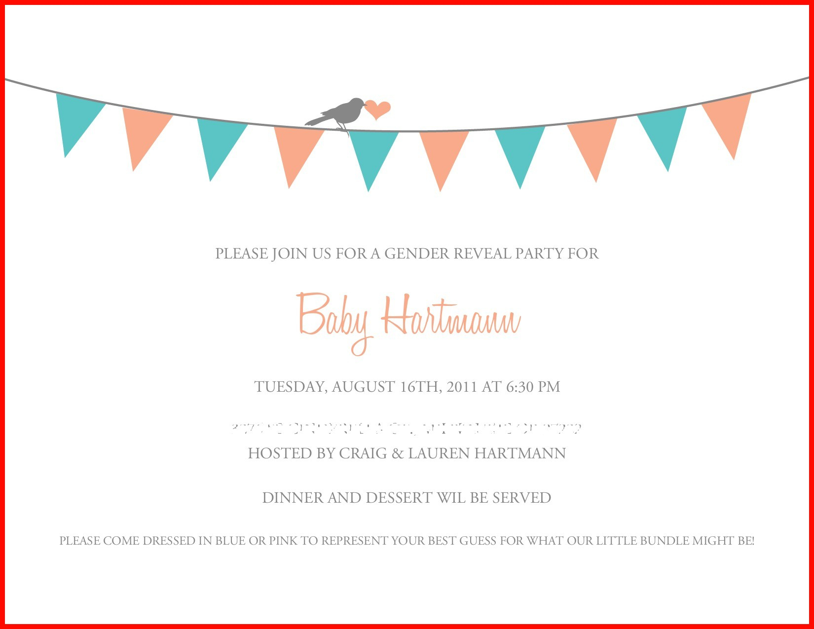 001 Free Printable Gender Reveal Invitations Invite For Your Party - Free Printable Gender Reveal Templates