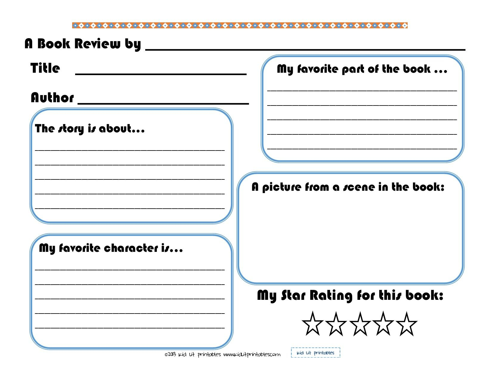 002 Free Book Report Templates Template ~ Ulyssesroom - Free Printable Book Report Forms