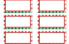 Free Printable Christmas Return Address Label Template