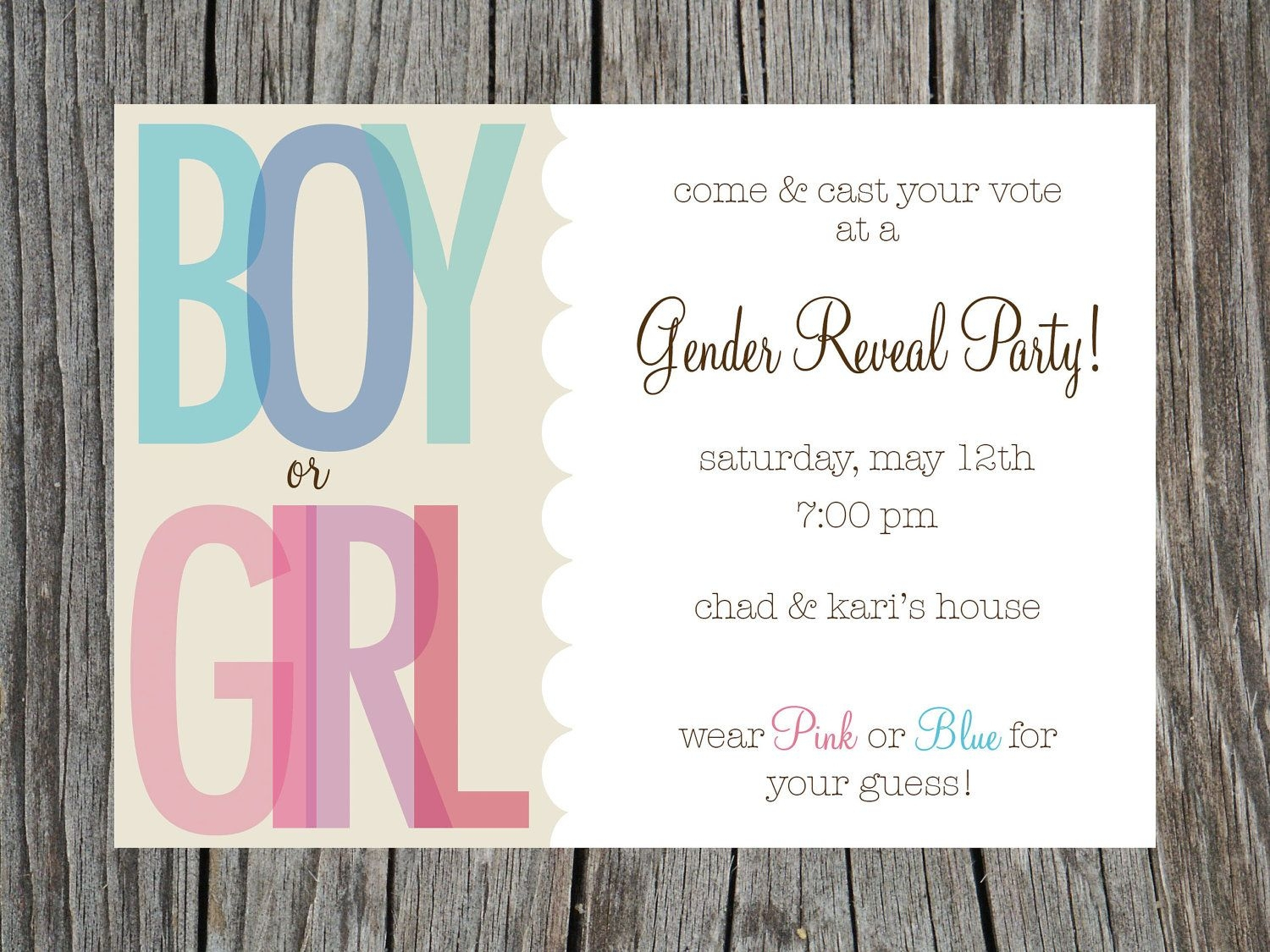 003 Free Gender Reveal Invitationlates Party Invitations - Free Printable Gender Reveal Invitations