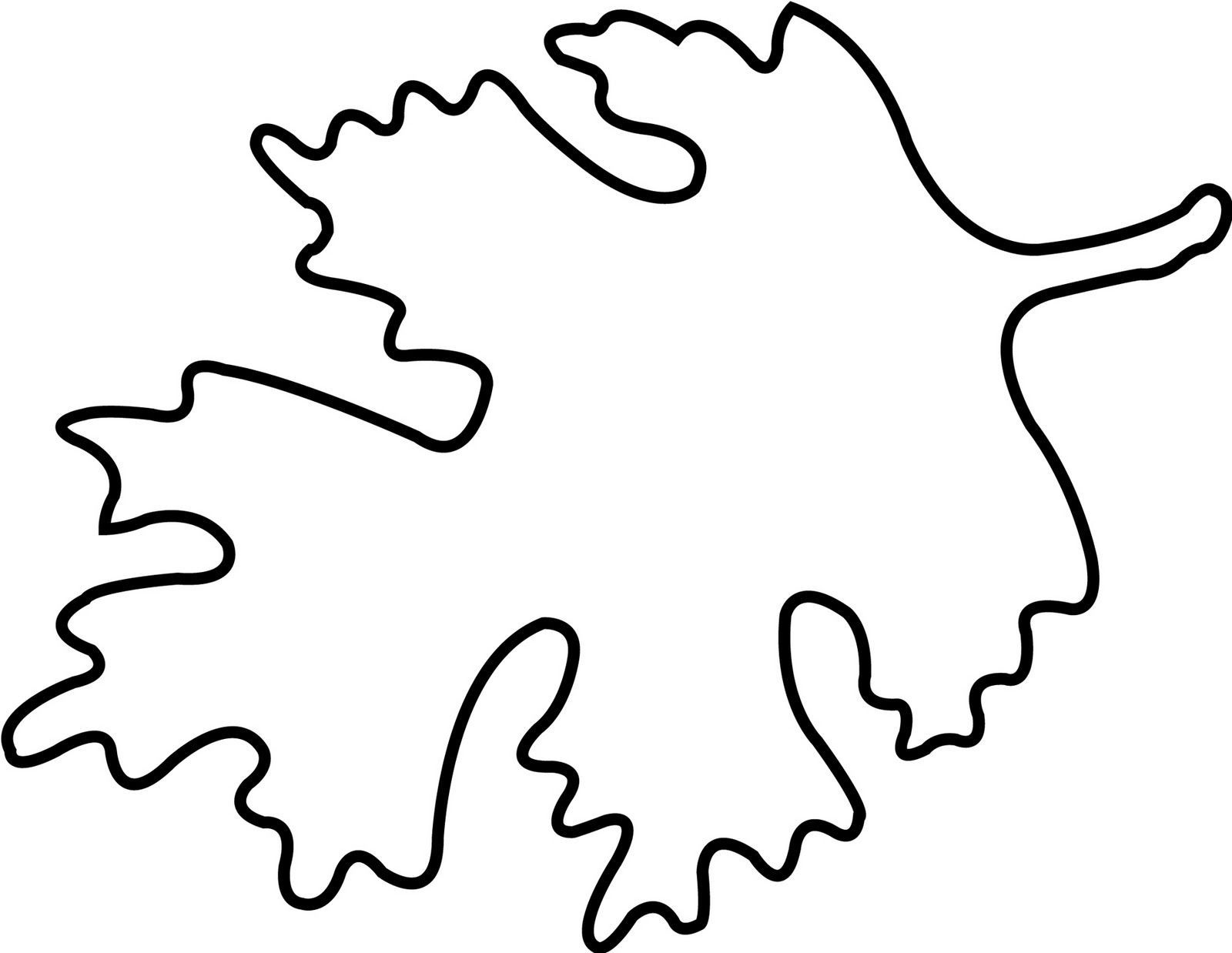 004 Free Printable Leaf Template Ideas ~ Ulyssesroom - Free Printable Leaf Template