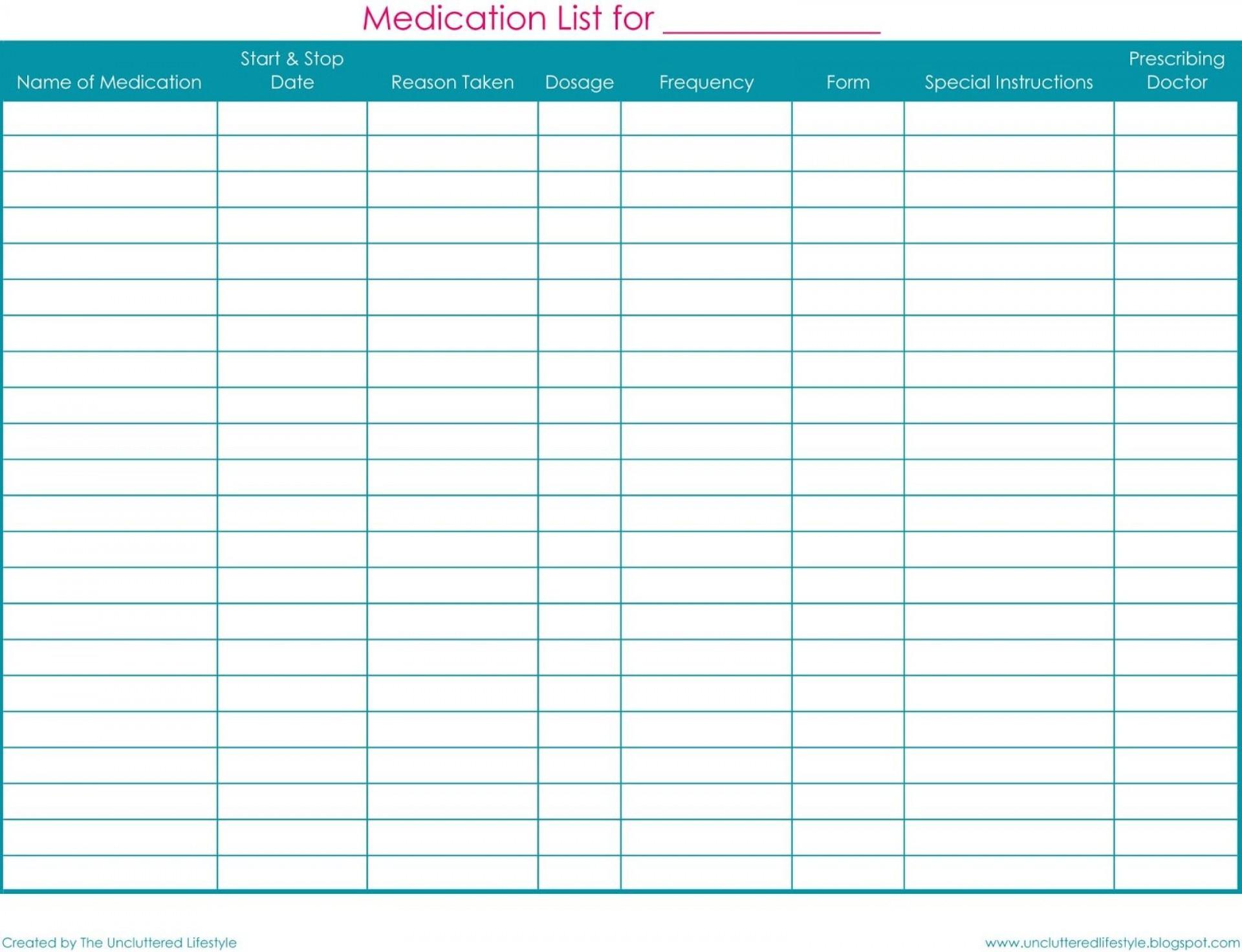 004 Free Printable Medication List Template ~ Ulyssesroom - Free Printable Medication List Template