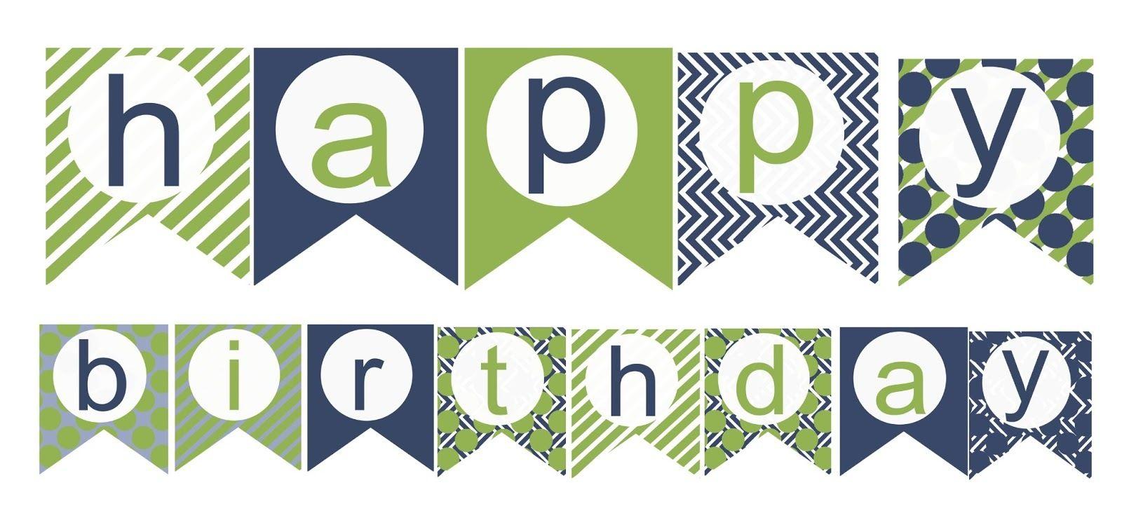 004 Template Ideas Happy Birthday Banner ~ Ulyssesroom - Free Printable Happy Birthday Banner Templates