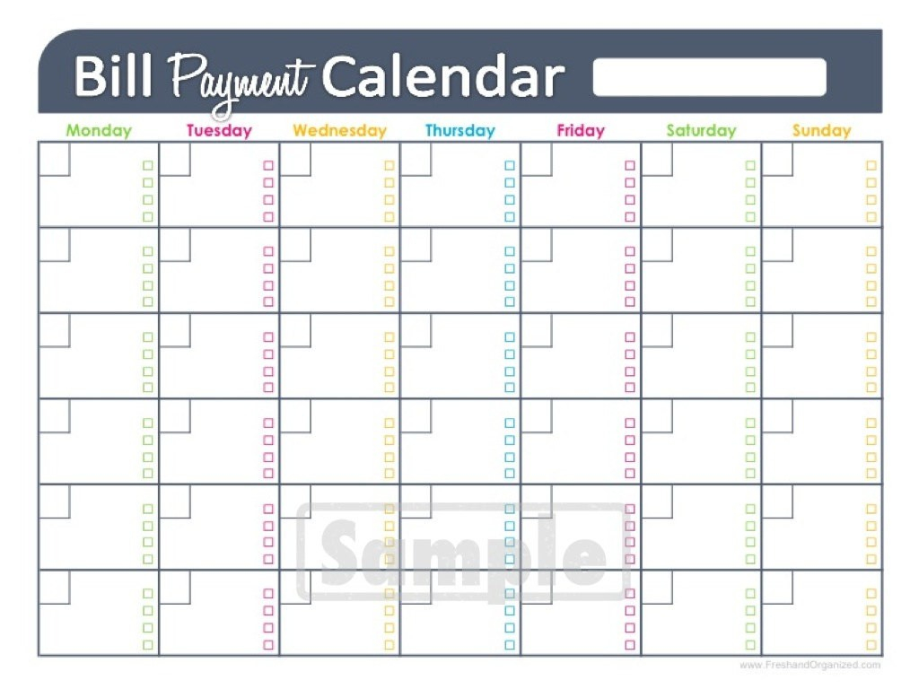 005 Bill Pay Schedule Template Paying Calendar Nurulamal Com - Free Printable Bill Payment Schedule