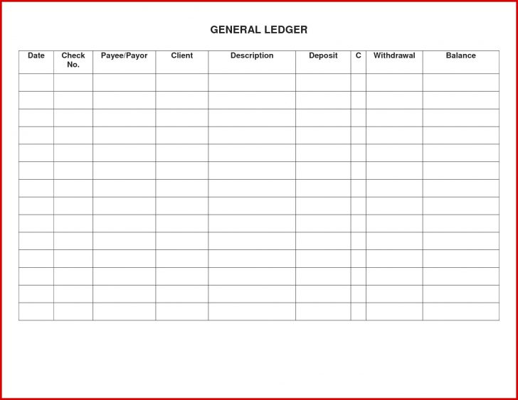 Free Printable Ledger Sheets