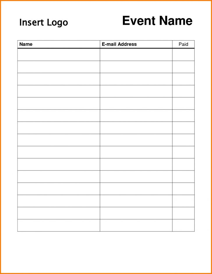 Free Printable Sign Up Sheet