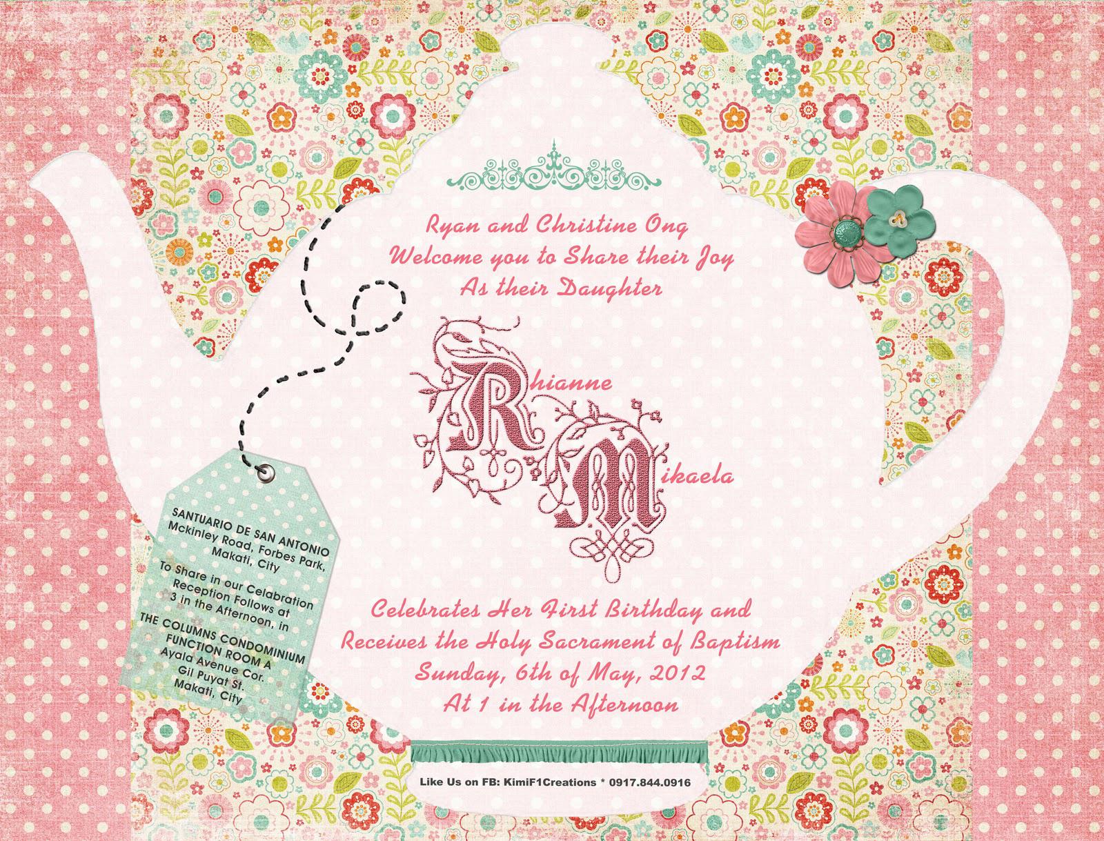 005 Template Ideas Tea Party Invitation Templates ~ Ulyssesroom - Free Printable Kitchen Tea Invitation Templates