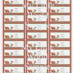 006 Free Printable Christmas Return Address Label Template Holiday   Free Printable Christmas Return Address Label Template