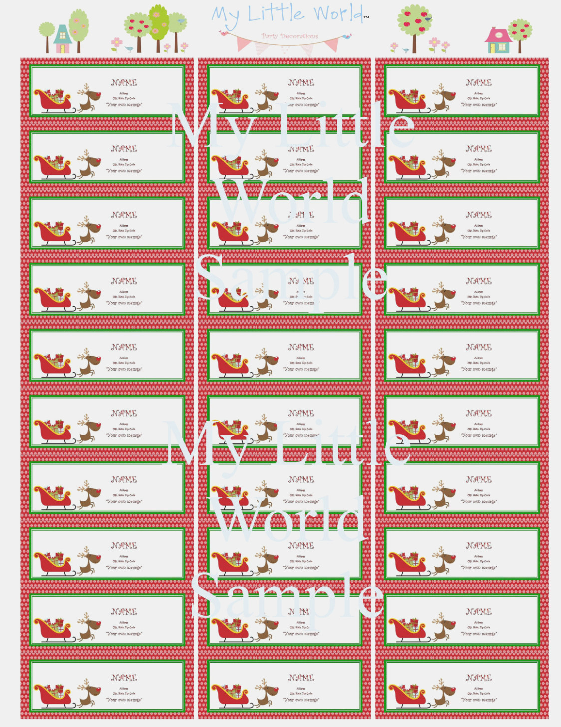 006 Free Printable Christmas Return Address Label Template Holiday - Free Printable Christmas Return Address Label Template