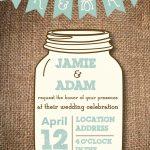 006 Mason Jar Invitation Template Ideas Free Templates New Stunning   Free Mason Jar Wedding Invitation Printable Templates