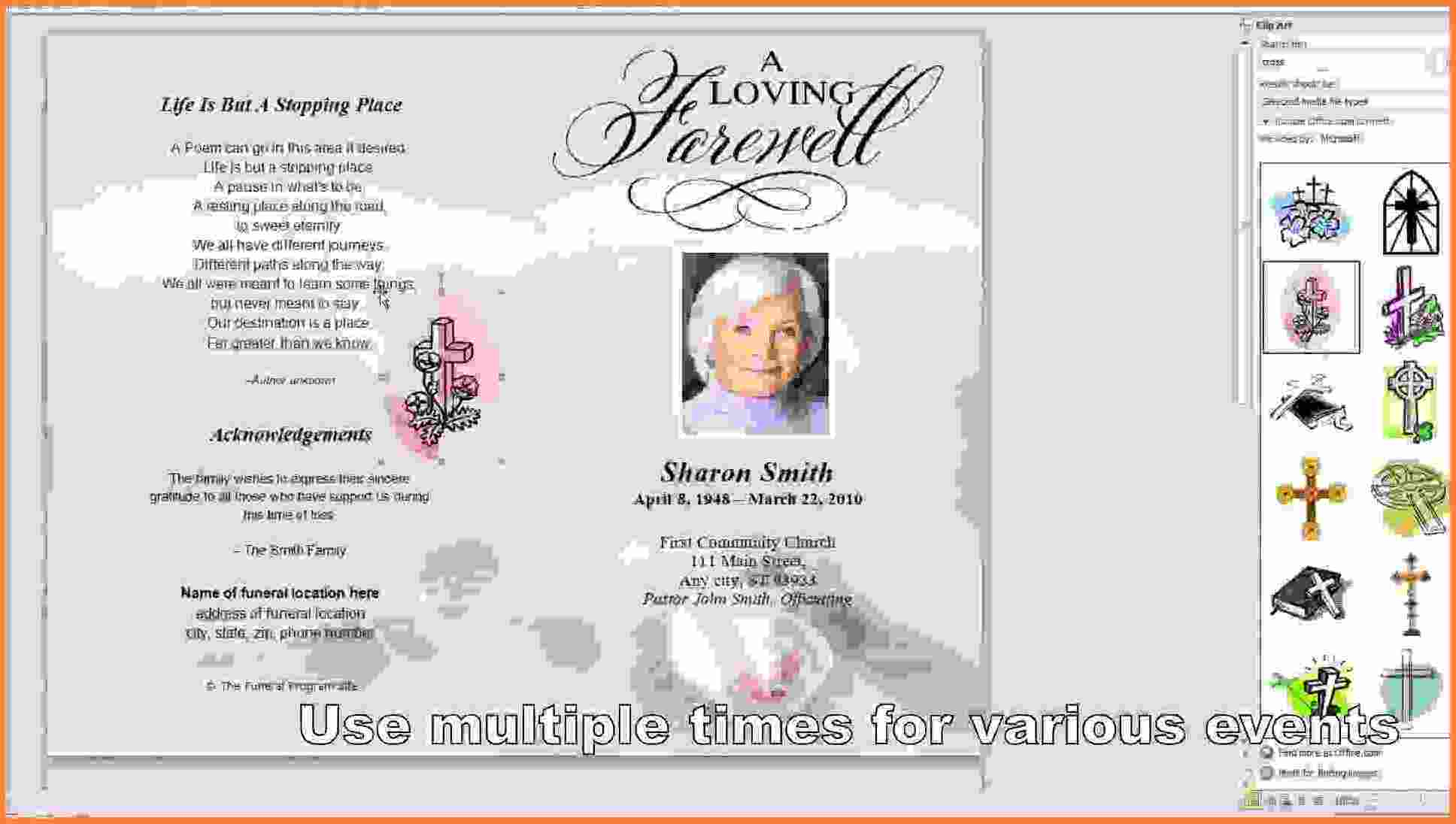 006 Template Ideas Free Printable Funeral Program Memorial Card For - Free Printable Funeral Programs