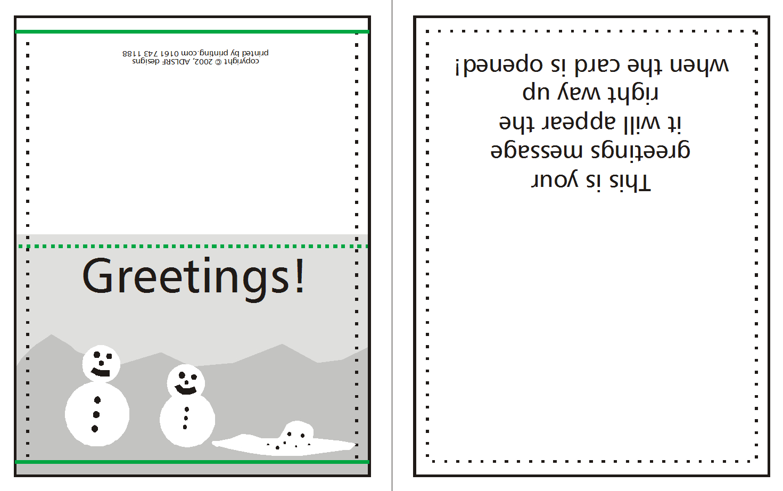 006 Template Ideas Quarter Fold Card Templates How To Supply - Free Printable Quarter Fold Christmas Cards