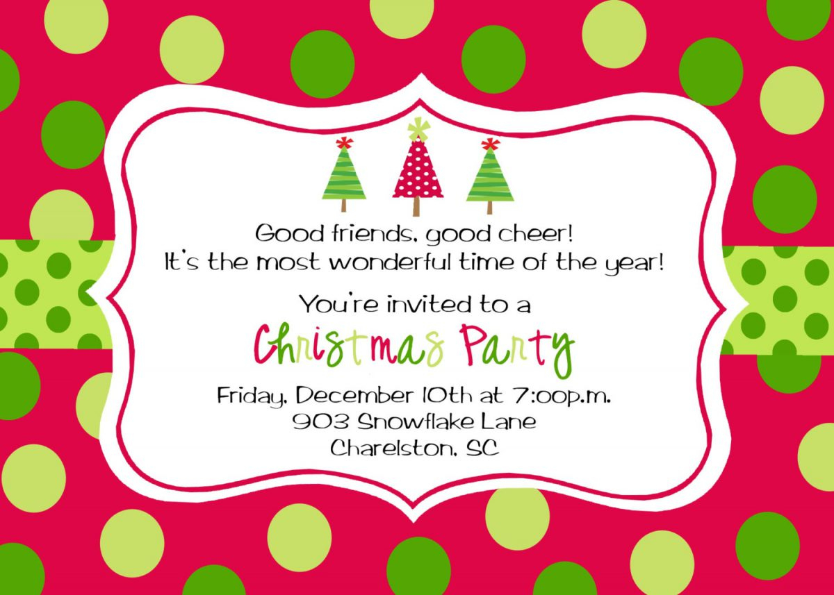 007 Christmas Party Invite Template Ideas Best Free Templates - Holiday Invitations Free Printable