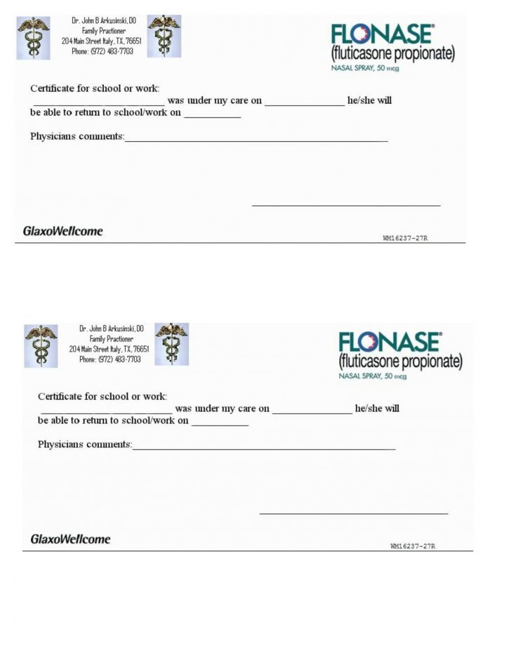 Free Printable Doctors Notes Templates