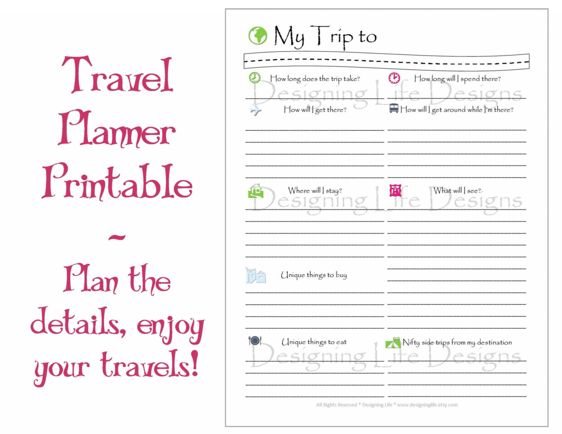 007 Free Travel Itinerary Template ~ Ulyssesroom - Free Printable Itinerary