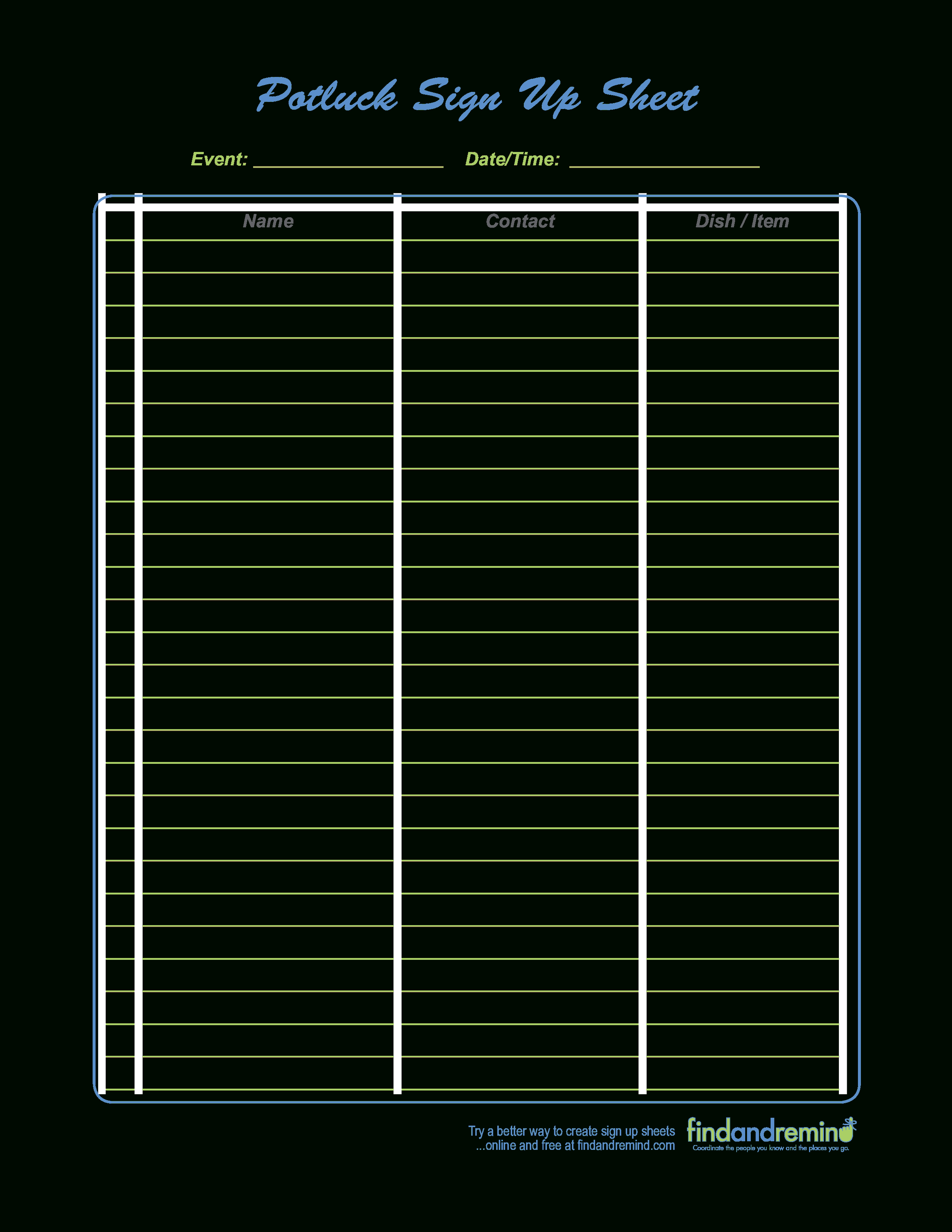 008 Template Ideas Sign Up Sheets Templates Free Office Potluck - Free Printable Sign Up Sheets For Potlucks