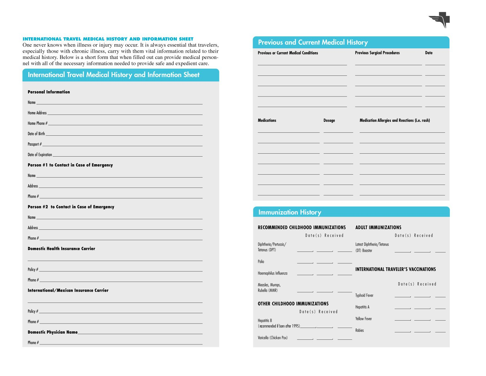 009 Template Ideas Personal Health Record Family History Form - Free Printable Personal Medical History Forms