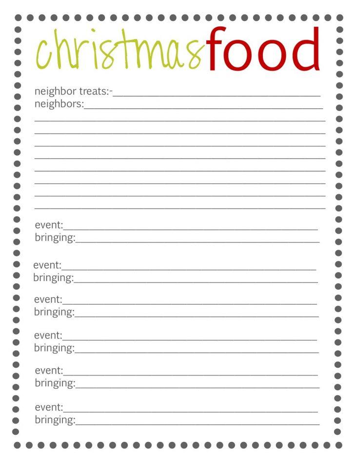Free Printable Sign Up Sheets For Potlucks