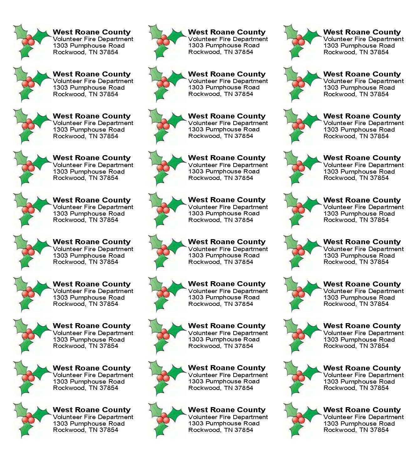 010 Free Holiday Address Labels Templates Per Sheet Label Template - Free Printable Christmas Address Labels Avery 5160