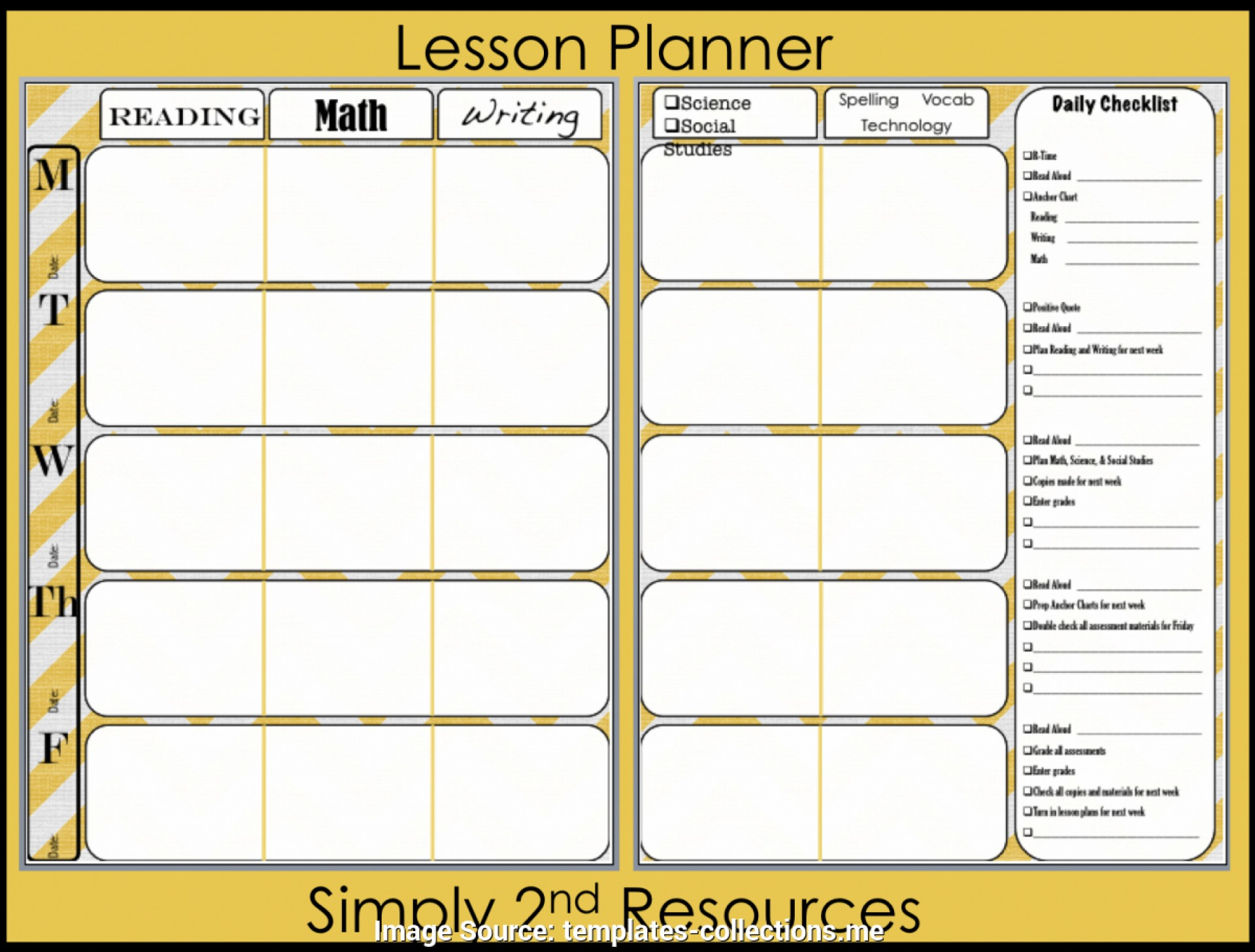 010 Useful Lesson Plan Book Template Pdf Teacher Teachers Planning - Printable Teacher Planner Free