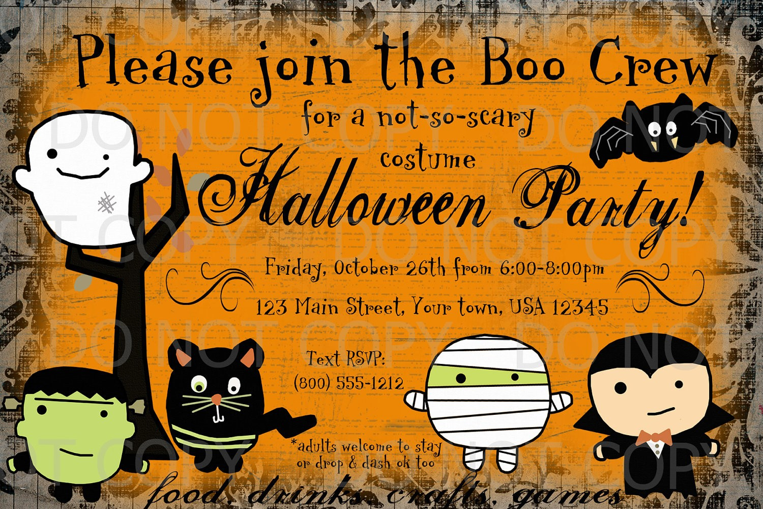 011 Halloween Party Invites Templates Template Ideas Free Printable - Halloween Party Invitation Templates Free Printable