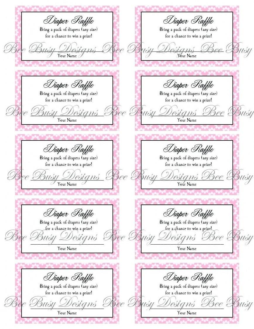 011 Template Ideas Baby Raffle Ticket Resume Shower New Printable - Free Printable Diaper Raffle Tickets Elephant