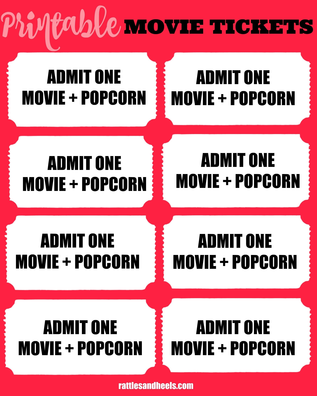 012 Printable Movie Ticket Template Ideas Tickets ~ Ulyssesroom - Free Printable Movie Tickets