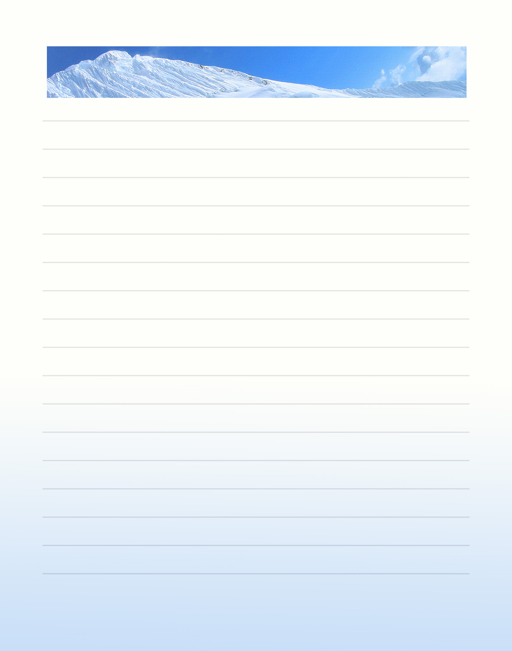 012 Winter Free Printable Stationery Template ~ Ulyssesroom - Free Printable Lined Stationery