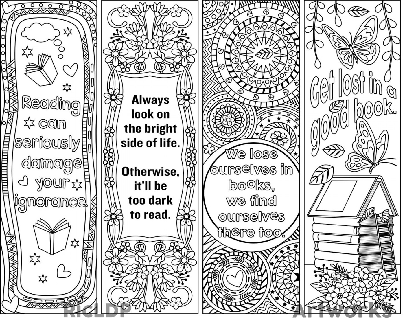 013 Free Printable Bookmark Templates Template Ideas - Free Printable Blank Bookmarks