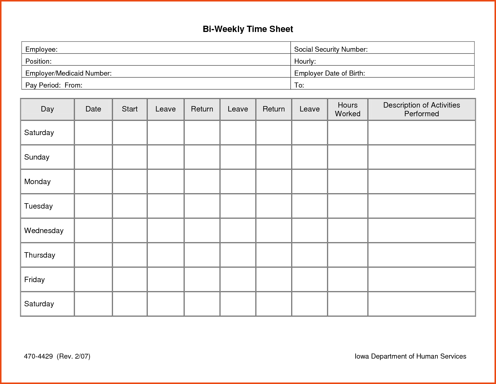 013 Time Sheet Templates Free Daily Timesheet Template Printable - Time Card Templates Free Printable