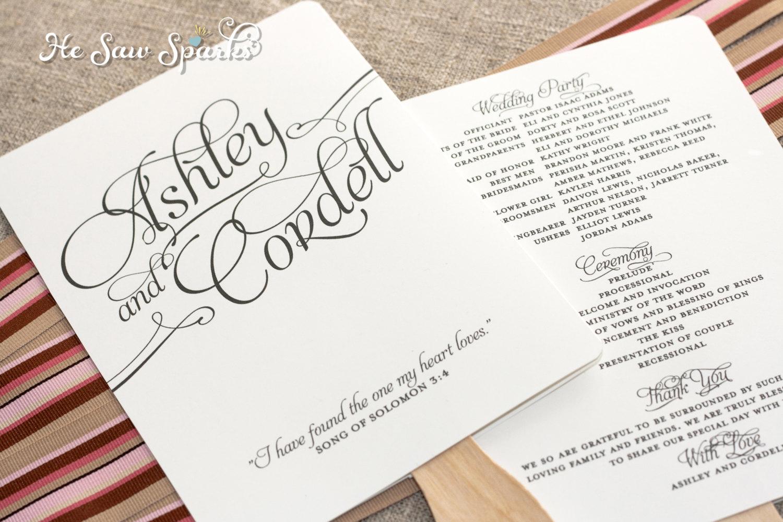 014 Free Wedding Program Fan Templates Template Ideas ~ Ulyssesroom - Free Printable Wedding Fan Templates