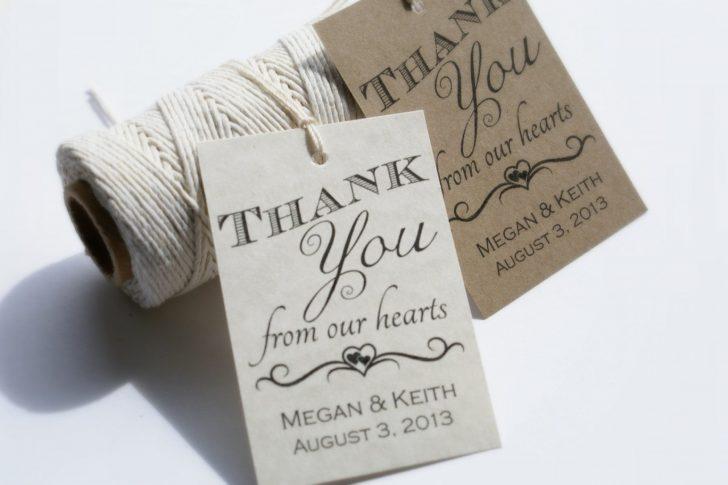Free Printable Wedding Thank You Tags