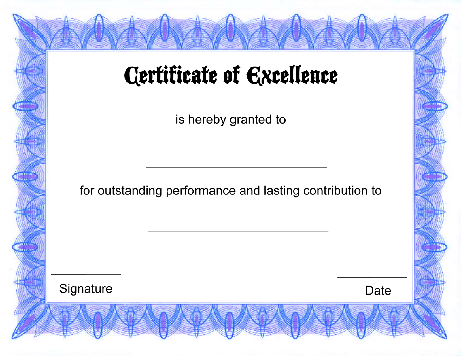 015 Blank Award Certificate Template ~ Ulyssesroom - Free Printable Award Certificates