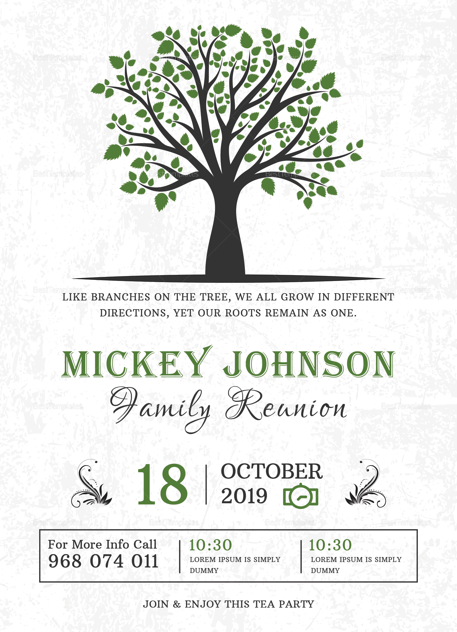 016 Family Reunion Invitations Templates Old Printable - Free Printable Family Reunion Invitations