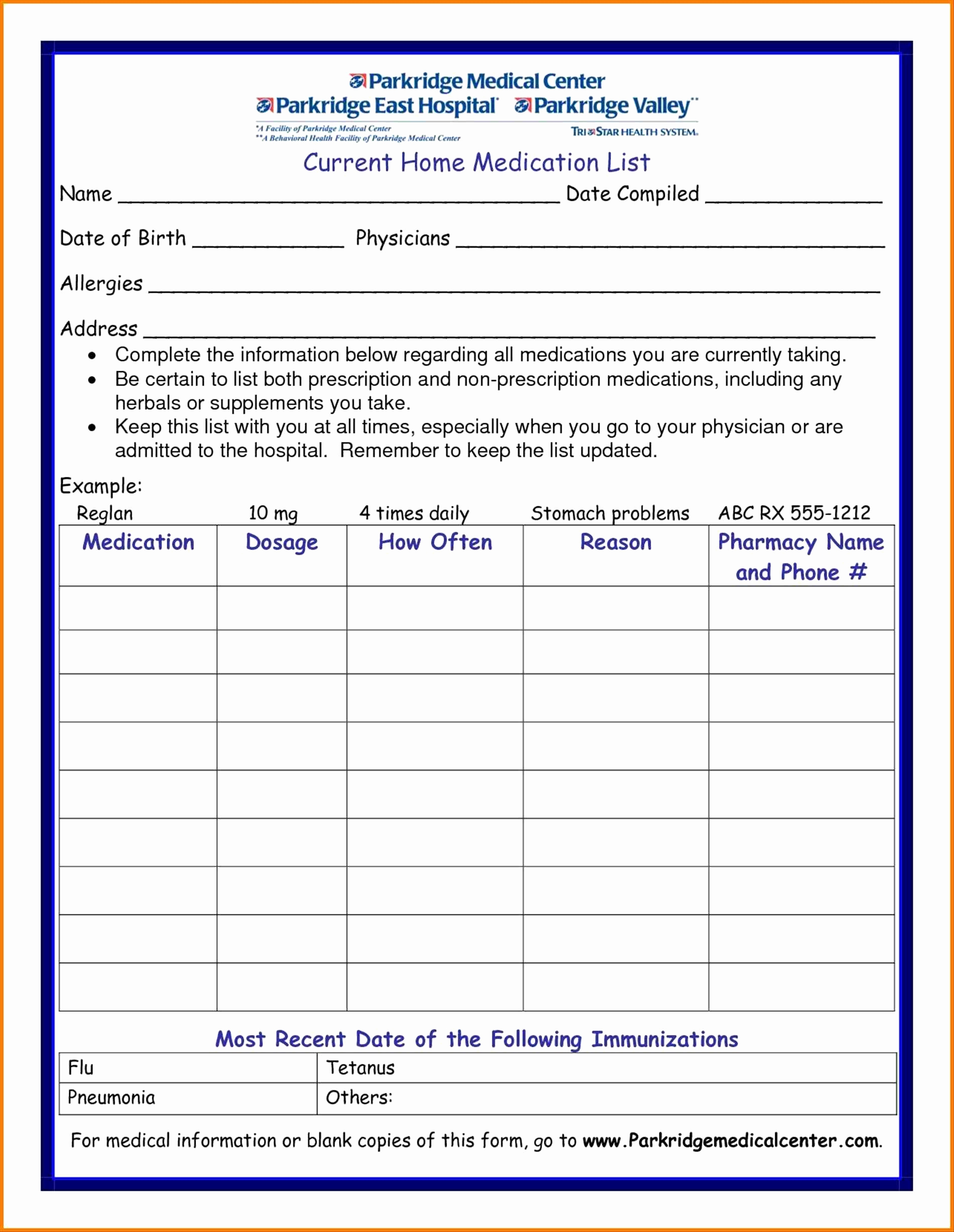 016 Free Medication List Template Resume Awesome Image Of Personal - Free Printable Medication List Template