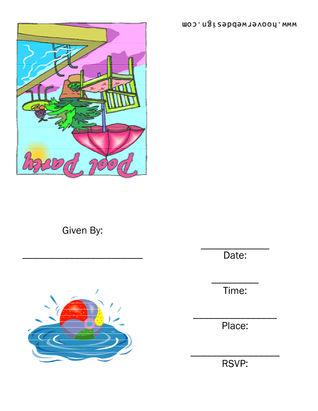 016 Pool Party Invitations Templates Free Printable Invitation For - Free Printable Pool Party Invitation Cards