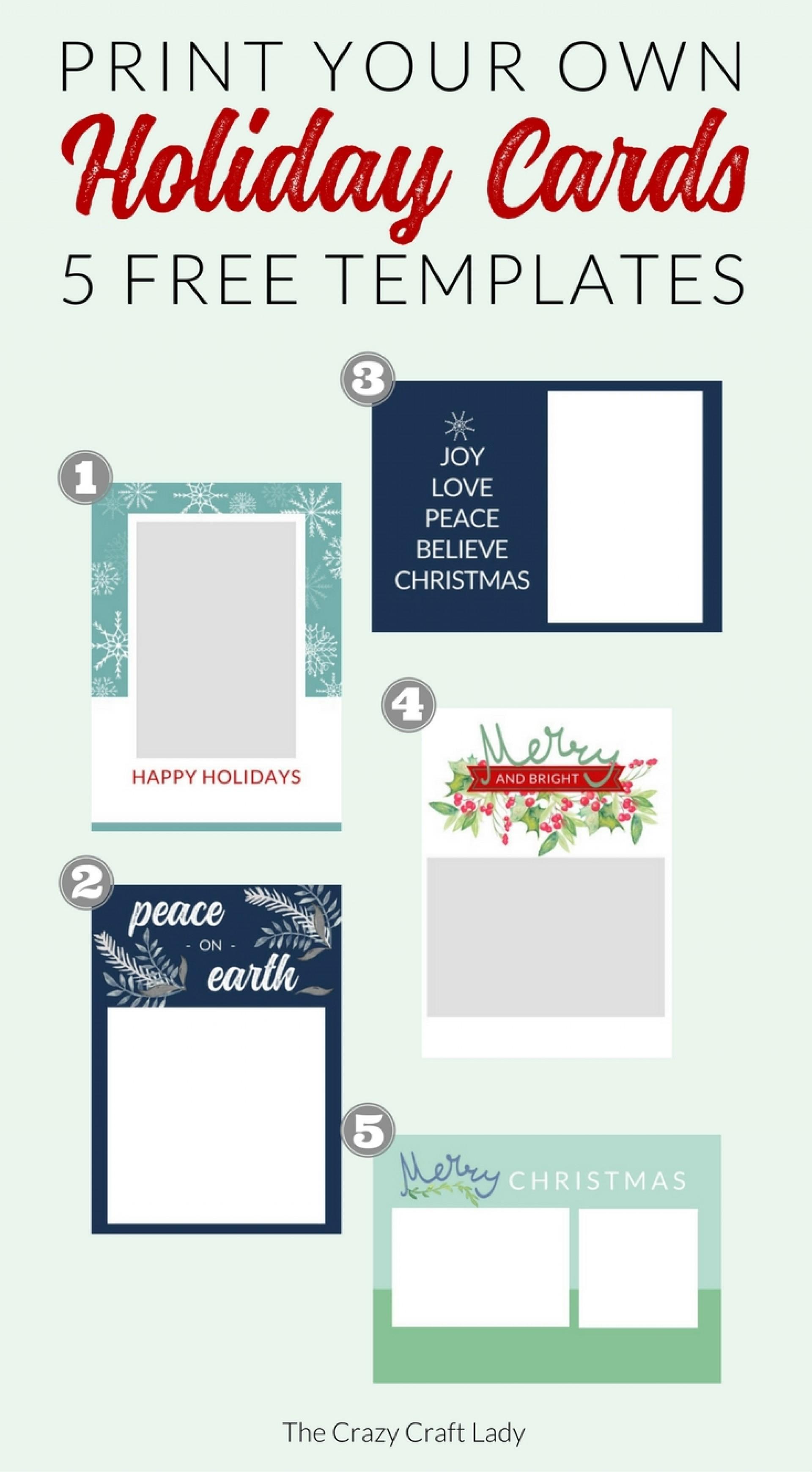 016 Template Ideas Free Printable Holiday Photo Card ~ Ulyssesroom - Free Printable Xmas Cards Online