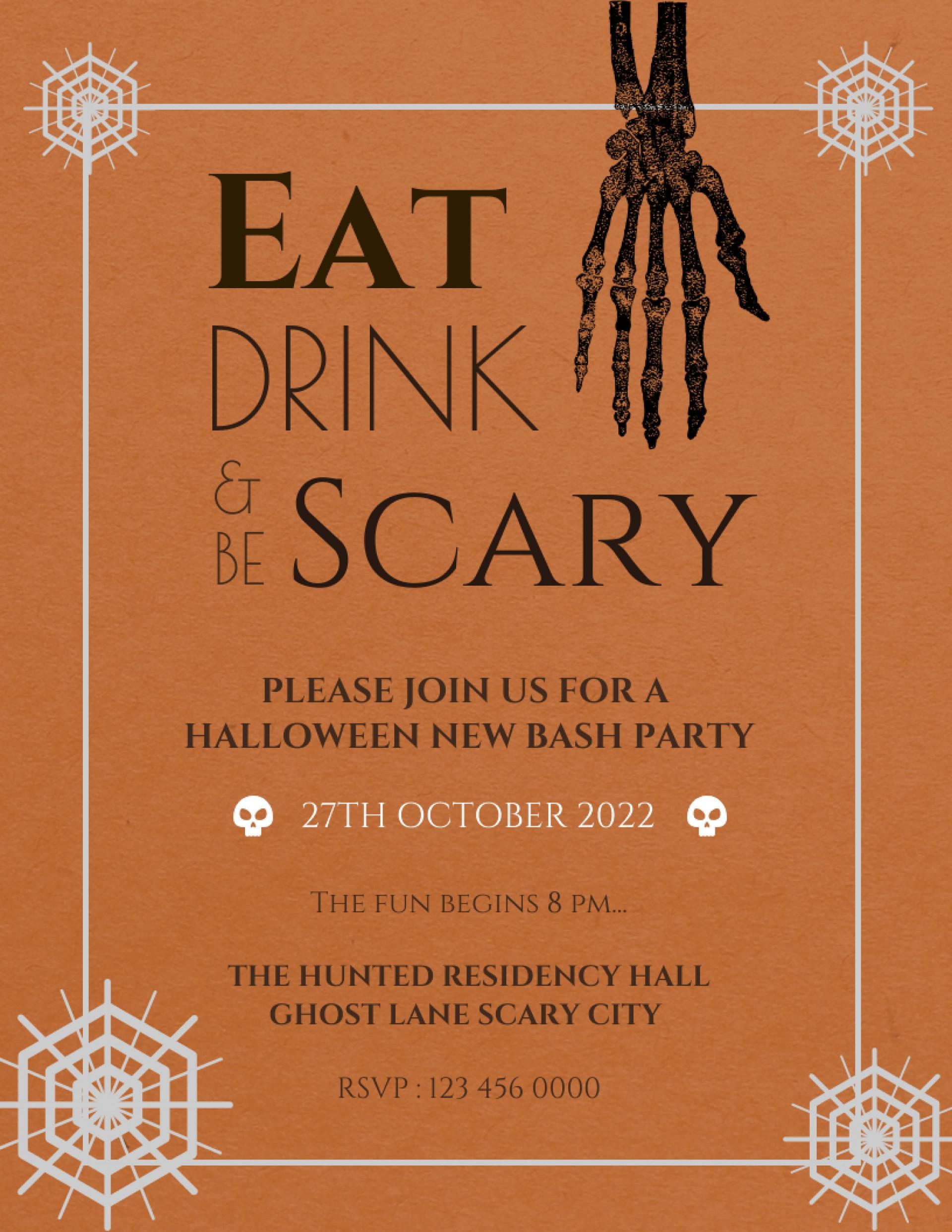 017 Free Printable Halloween Flyer Templates Template Ideas - Free Printable Halloween Flyer Templates