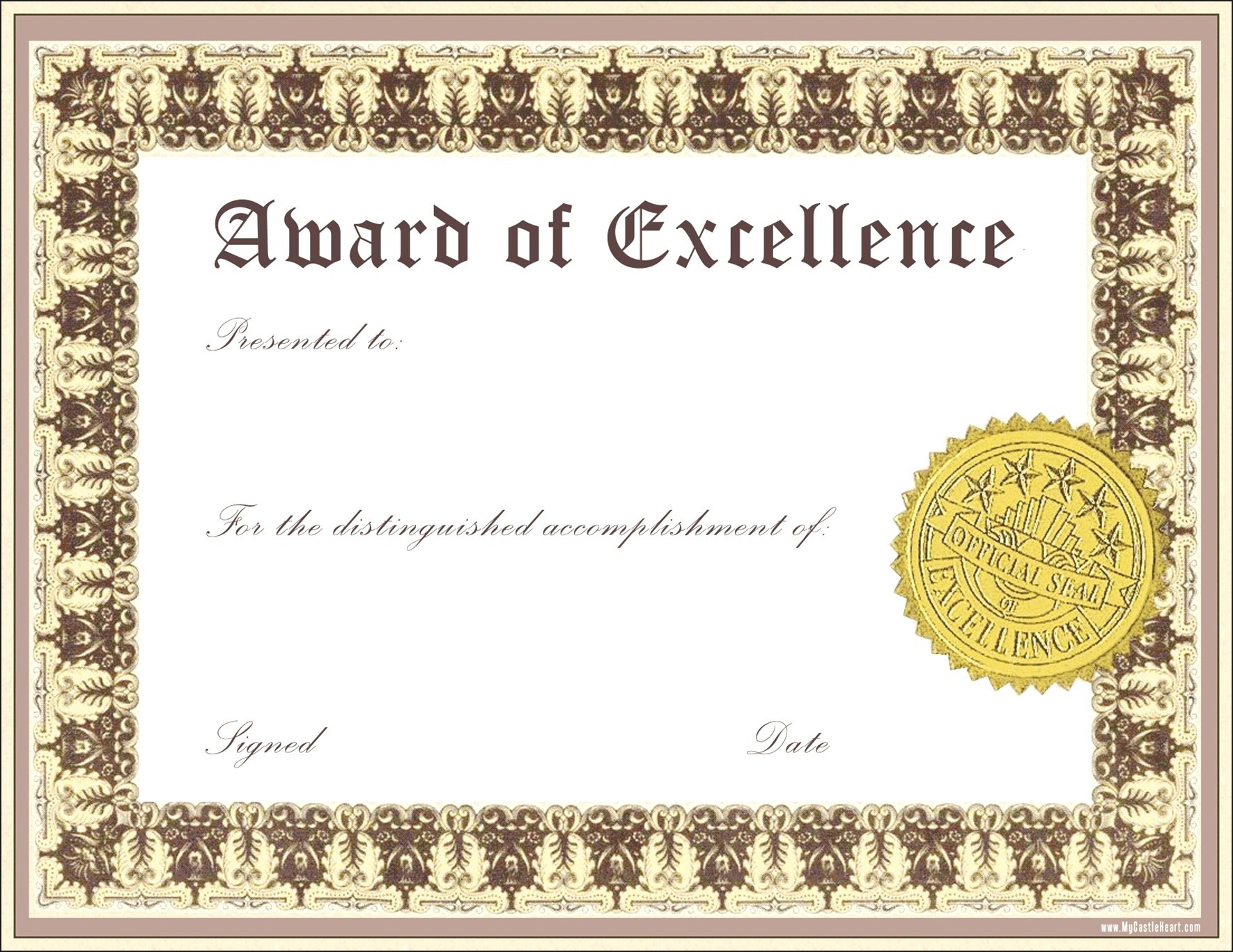 017 Word Certificate Of Achievement Template New Brilliantas Blank - Free Soccer Award Certificates Printable