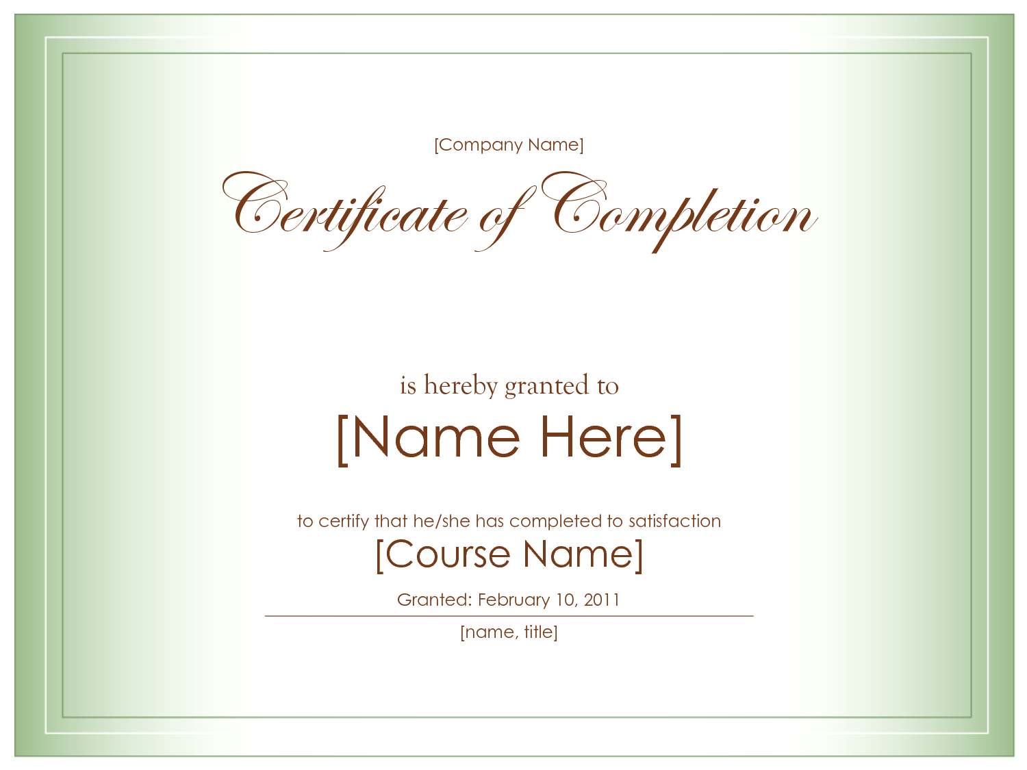 018 Best Images Of Certificate Completion Template Blank Free Via - Certificate Of Completion Template Free Printable