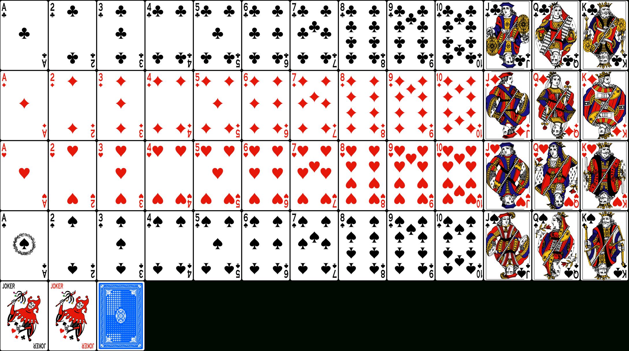 018 Deck Of Cards Template ~ Ulyssesroom - Free Printable Deck Of Cards