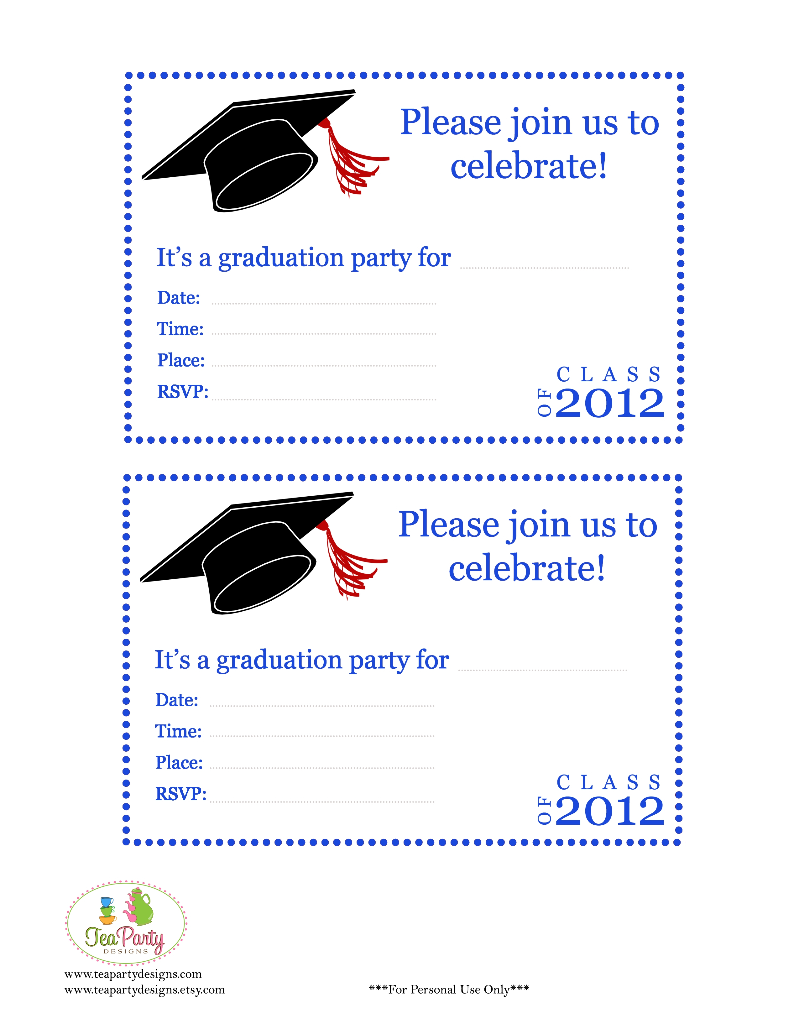 photograph regarding Preschool Graduation Invitations Free Printable titled Absolutely free Printable Commencement Invites Absolutely free Printable Down load