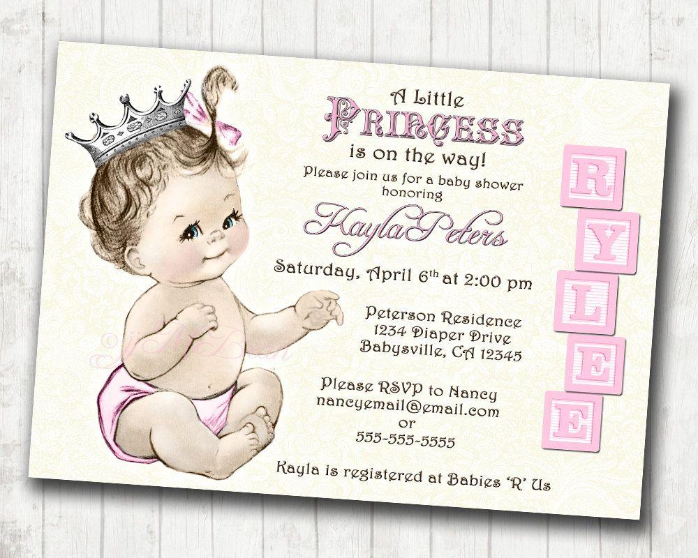 018 Template Ideas Princess Baby Shower Invitations Templates Free - Free Printable Princess Baby Shower Invitations