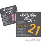 018 Template Ideas Th Birthday Party Invitation Templates Lovely   21St Birthday Invitation Templates Free Printable