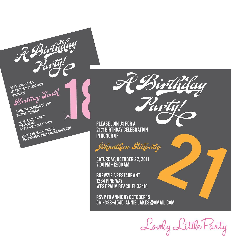 018 Template Ideas Th Birthday Party Invitation Templates Lovely - 21St Birthday Invitation Templates Free Printable