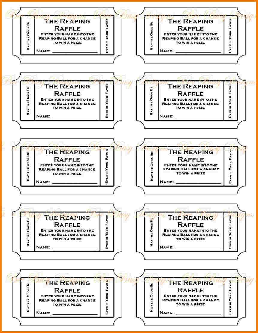 019 Free Printable Raffle Tickets P Template ~ Ulyssesroom - Diaper Raffle Template Free Printable