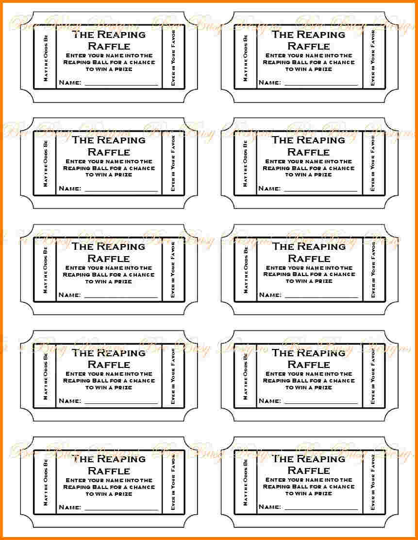 019 Free Printable Raffle Tickets P Template ~ Ulyssesroom - Free Printable Diaper Raffle Ticket Template