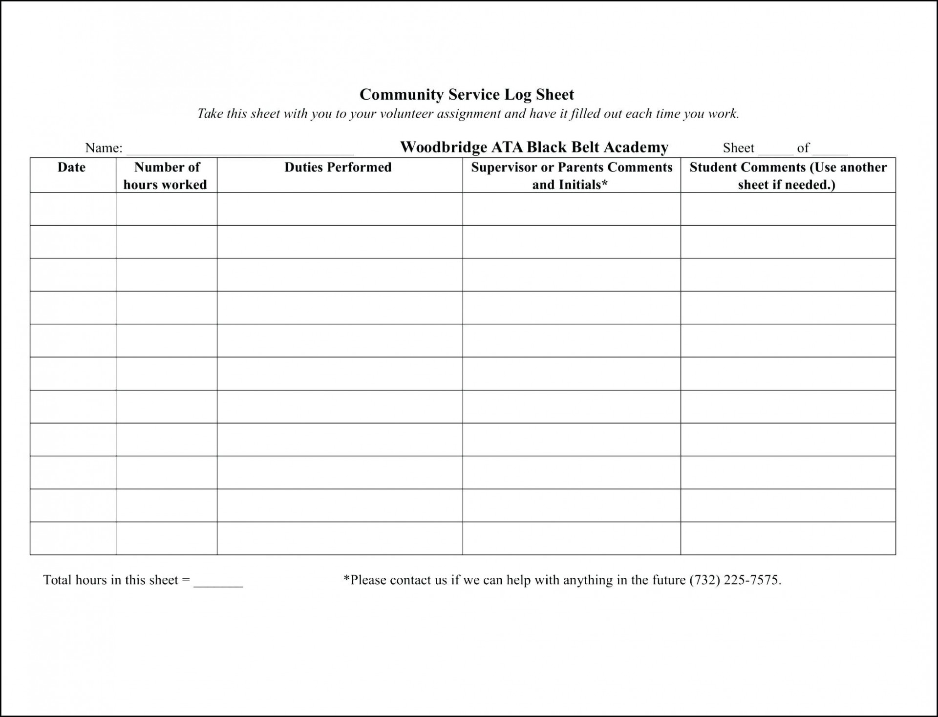 020 Sign In Sheet Template Free Work Activity Log Hola Klonec Co - Free Printable Community Service Log Sheet